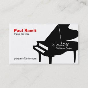 Carte De Visite Professeur Piano