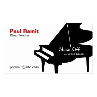 Carte de visite de professeur de piano