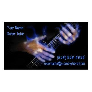 Carte de visite de professeur/tuteur de guitare