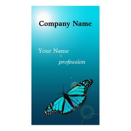 Carte de visite de profession de papillon de bleu