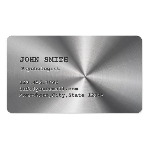 Carte de visite de psychologue d'acier inoxydable