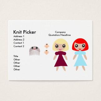 Carte de visite de récolteuse de Knit