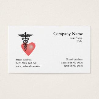 Carte de visite de rendez-vous de cardiologue