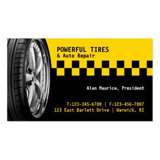 Carte de visite de réparation automatique de pneus