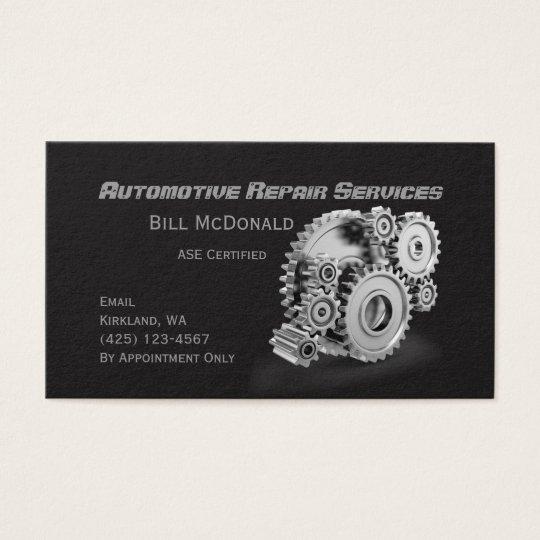 Carte de visite de réparation d'automobiles