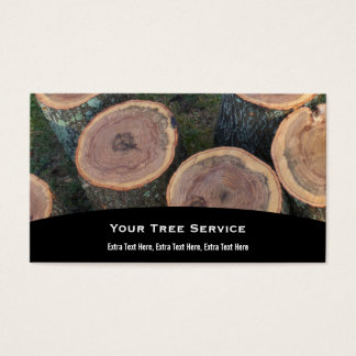 Carte de visite de rondin d'arbre