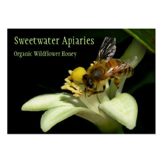 Carte de visite de rucher d'abeille de miel