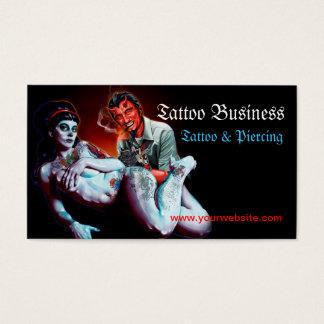 Carte de visite de salon d'artiste de tatouage