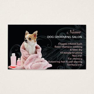 Carte de visite de salon de toilettage de chien