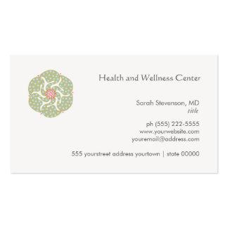 Carte de visite de santé et de santé d'arts carte de visite standard