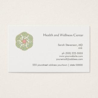 Carte de visite de santé et de santé d'arts
