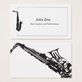 Carte de visite de saxophone