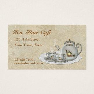 Carte de visite de service à thé