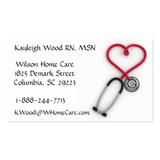 Carte de visite de services médicaux