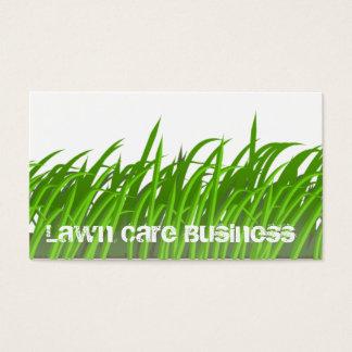 Carte de visite de soin de pelouse