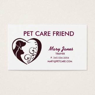 Carte de visite de soin des animaux familiers
