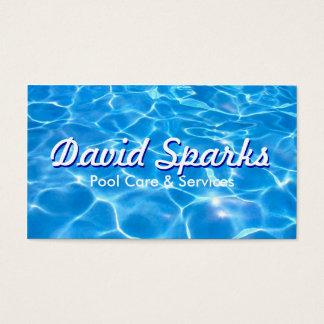 Carte de visite de soin et de services de piscine