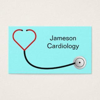 Carte de visite de stéthoscope de coeur