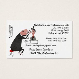 Carte de visite de style d'ophtalmologiste