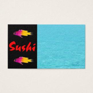 Carte de visite de sushi