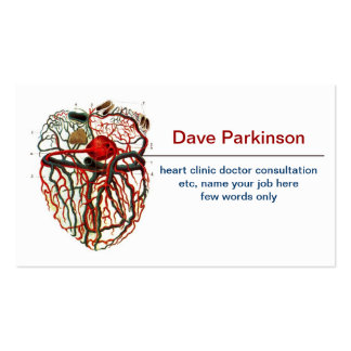 carte de visite de système de sang de coeur