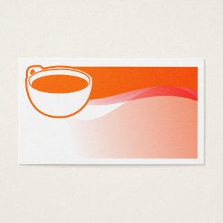 Carte de visite de tasse de café