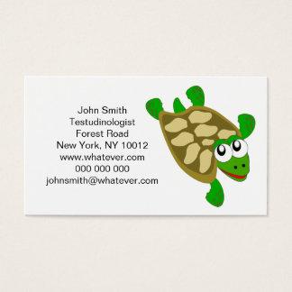 Carte de visite de Testudinologist de tortue