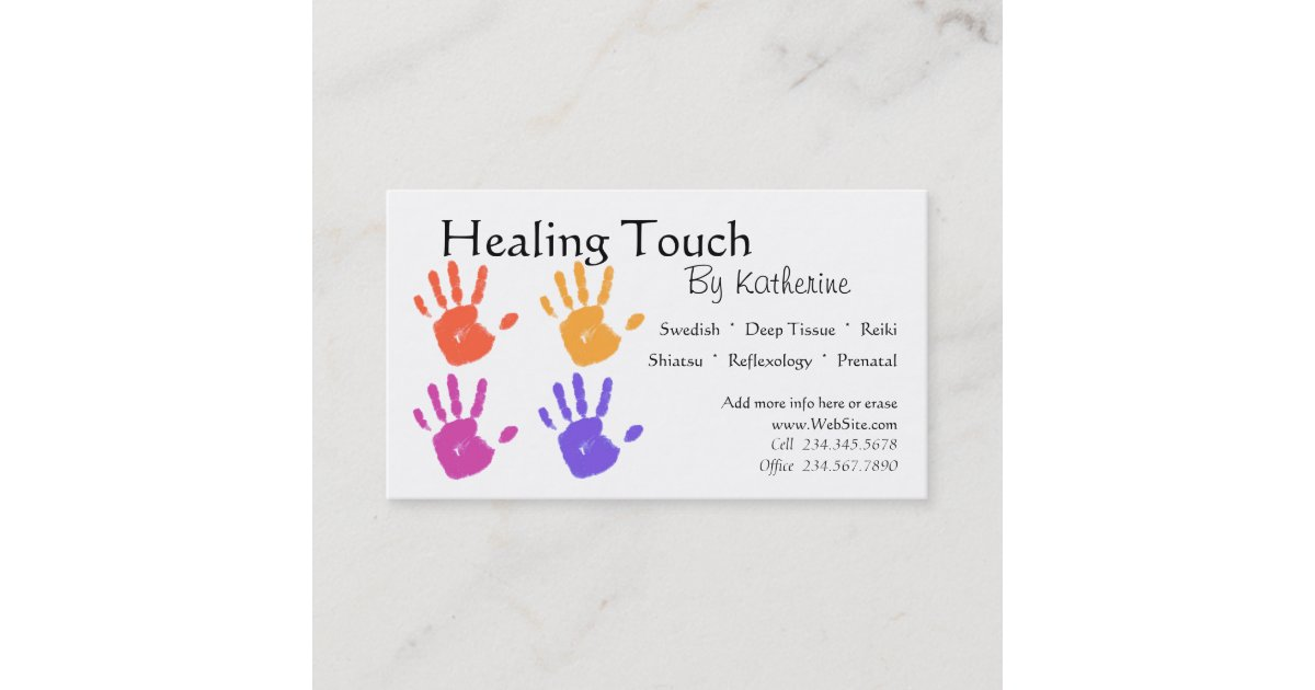 Carte De Visite Therapie Massage
