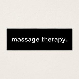 Cartes De Visite Massage Therapy Personnalisees