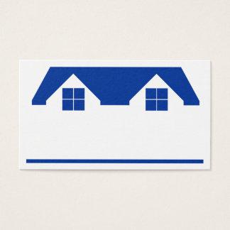 Carte de visite de toit et de Chambre