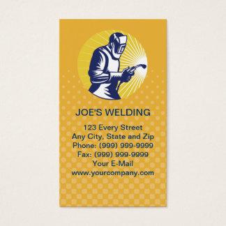 carte de visite de travailleur de soudure de