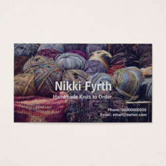 Carte de visite de tricoteuses