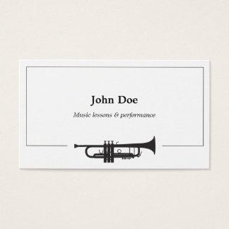 Carte de visite de trompette