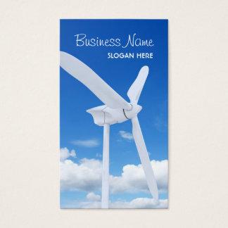 Carte de visite de turbine de vent