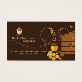 Carte de visite de vendeur/apiculteur de miel