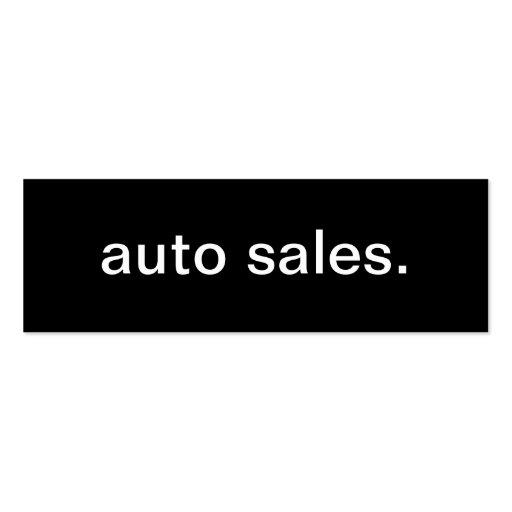 Carte de visite de ventes automatiques