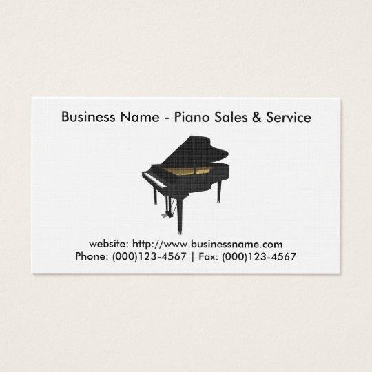 Carte de visite de ventes de piano : Modèle du