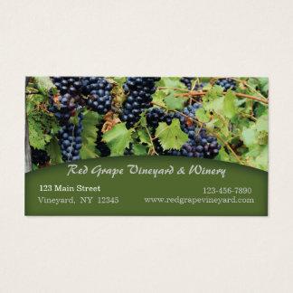 Carte de visite de vignoble de raisins rouges
