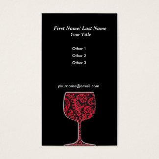 Carte de visite de vin