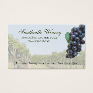 Carte de visite de vinification d'établissement