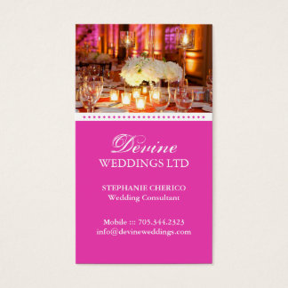 Carte de visite de wedding planner