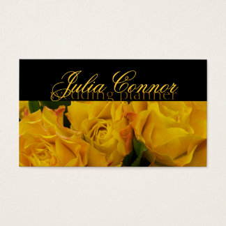 Carte de visite de wedding planner de bouquet de