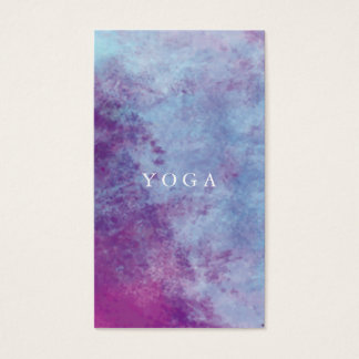 Carte de visite de yoga d'aquarelle