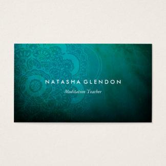 Carte de visite de zen de mandala de bleu de