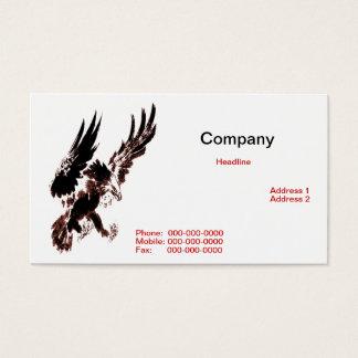 Carte de visite d'Eagle de chasse