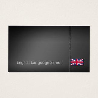 Carte de visite d'école d'anglais