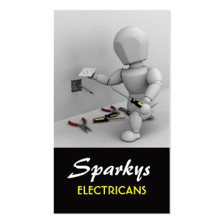 Carte de visite d'électricien