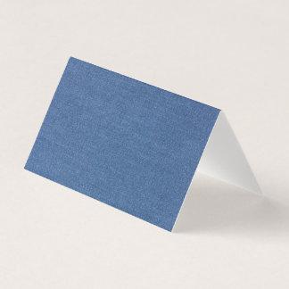 Carte De Visite Denim bleu original de treillis de mode de tissu