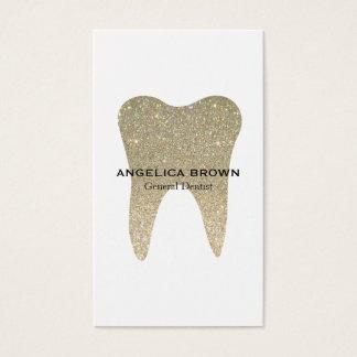 Carte de visite dentaire de scintillement