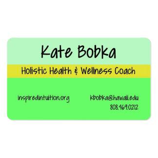 Carte de visite d'entraîneur de santé